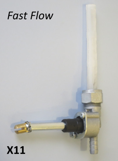 Rubinetto benzina con flusso maggiorato (fast Flow) con uscita tipo normale
