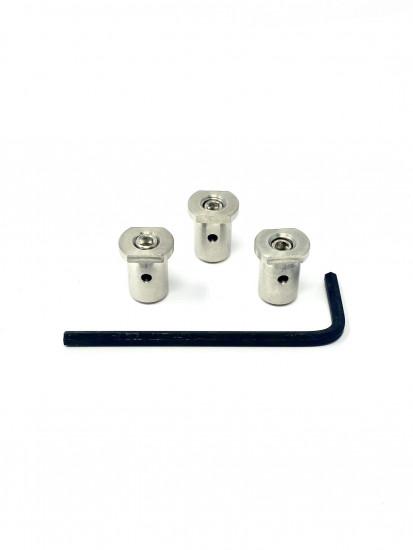 Kit morsetti cavi cambio + frizione Oiltek in acciaio Inox per Lambretta S1 + S2 + S3 + DL + Serveta (forniti con chiave a brugola)