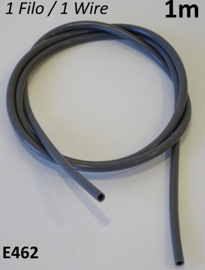 1 metro di guaina grigia diametro 2mm per impianto elettrico Lambretta + Vespa
