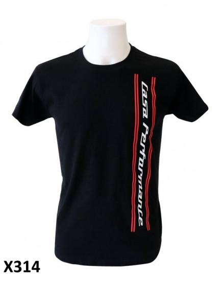 Maglietta Uomo 'Casa Performance' nera con logo verticale