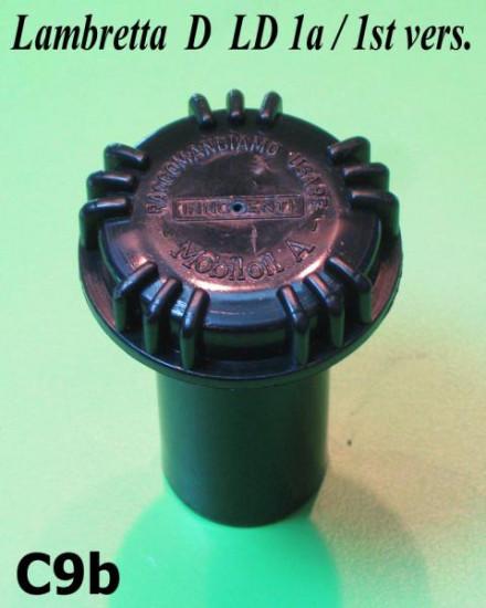 Tappo serbatoio nero Lambretta D + LD + E + F