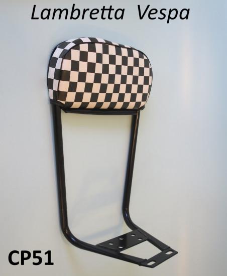 Schienale Cuppini cuscino a scacchi per Lambretta + Vespa