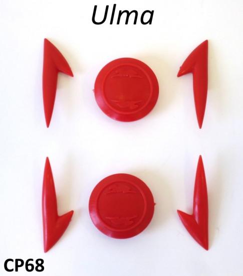 Set gemme rosse per accessori tipo Ulma