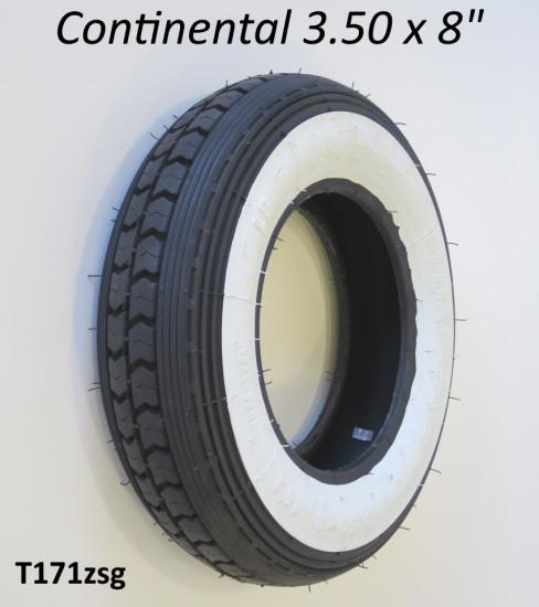 """Copertone fascia bianca Continental 3.50 x 8"""""""