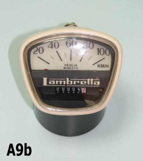 Contachilometri scala 100 Km/h per Lambretta DL125