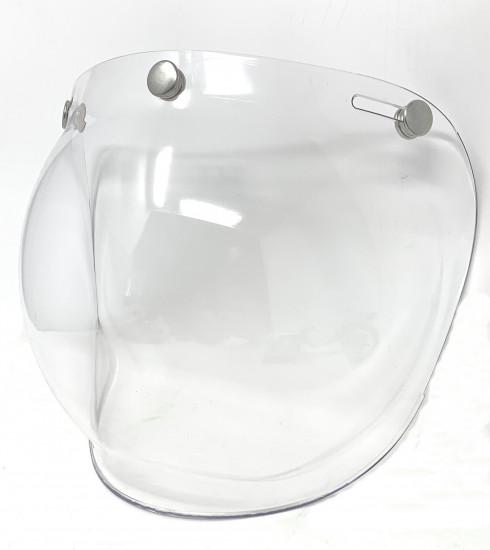 """Visiera trasparente tipo """"Bubble"""" per casco aperto"""
