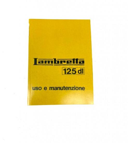 Libretto 'Uso e Manutenzione' Lambretta DL 125