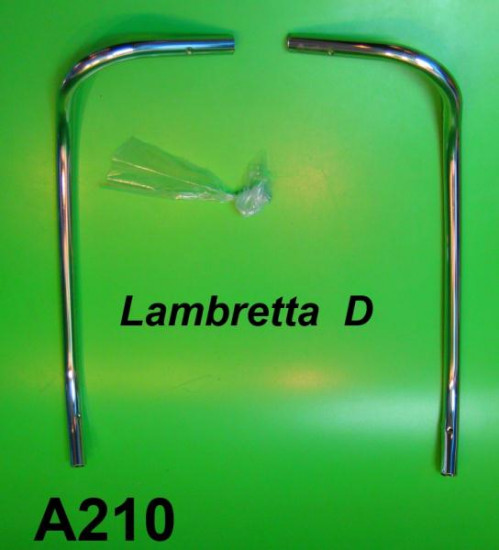 Bordo scudo cromato per Lambretta D125 + D150