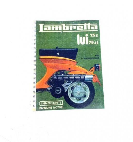 Libretto 'Uso e Manutenzione' Lambretta Lui 75S/SL