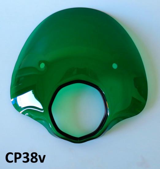 Cupolino modello 'Bubble' verde per Lambretta SX + TV3 + Special + Serveta