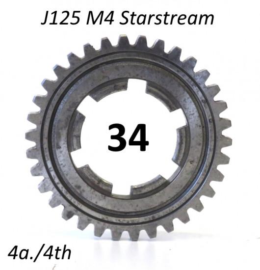 Ingranaggio 4a. marcia z34 per Lambretta J125 M4 'Stellina'