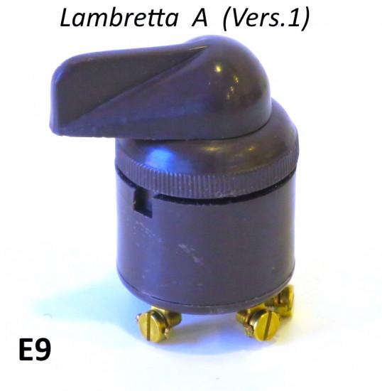 Interruttore luci per Lambretta A Vers. 1