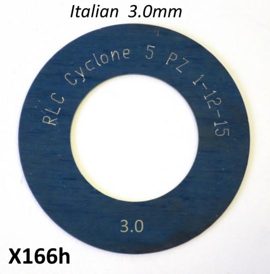 Spessore 3,0mm per 1° marcia del cambio Lambretta S1 + S2 + TV2 + S3 + TV3 + Special + SX + DL + Serveta