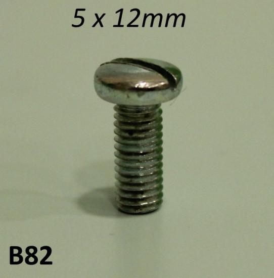 Vite 5mm x 12mm testa cilindrica bombata