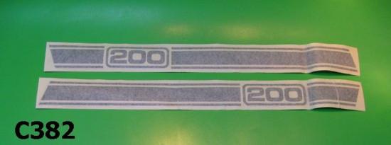 """Strisce adesive cofani laterali Lambretta Serveta """"200""""."""
