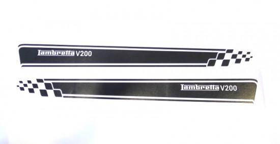 Kit adesivi fiancate laterali Nero Opaco Nuova Lambretta V Special