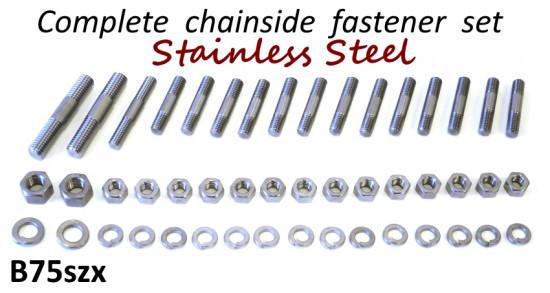 Kit completo RLC prigionieri + dadi + rondelle Inox per copricarter Lambretta S1 + S2 + S3 + DL