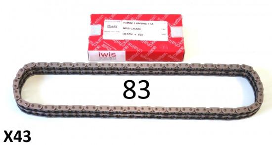 Catena IWIS 83 maglie Lambretta S1 + S2 + S3 + SX + DL