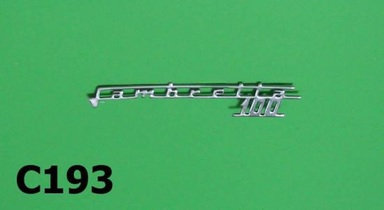 """Scritta """"Lambretta 100"""""""