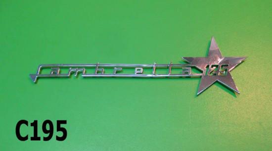 """Scritta """"Lambretta 125"""" per scudo Lambretta J125 M4 'Stellina'"""