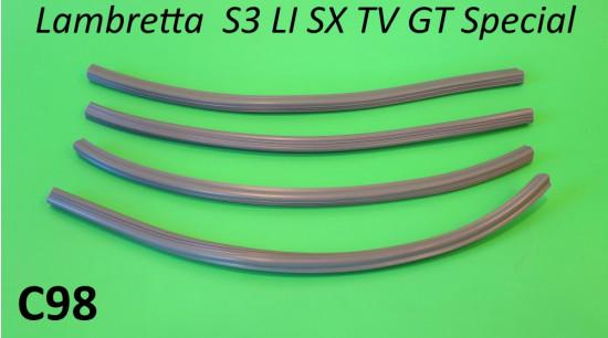Kit profili gomma per listelli pedana anteriori (4 pz.) per Lambretta S3 + Special + SX + TV3 + Serveta