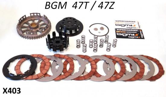 Frizione completa BGM Superstrong 47z Lambretta S1 + S2 + S3 + SX + DL + Serveta