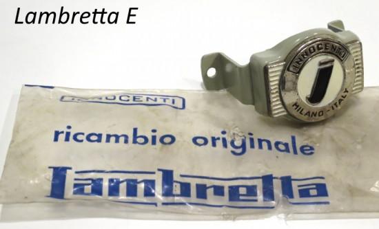 Stemma + supporto anteriore ORIGINALE NOS Innocenti Lambretta E125 (Vers.1)