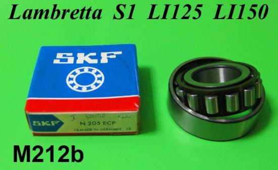 Cuscinetto SKF N205 a rulli albero motore lato volano Lambretta S1