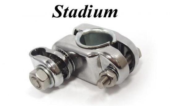 Morsetto Stadium cromato (versione Deluxe) per fissaggio specchi supplementari ai parascudi