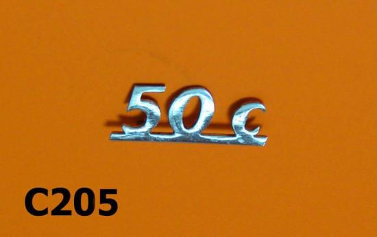 """Scritta """"50 C"""""""