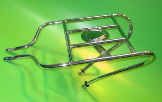 Portapacchi / portaruota di scorta posteriore orizzontale per Lambretta S1 + S2