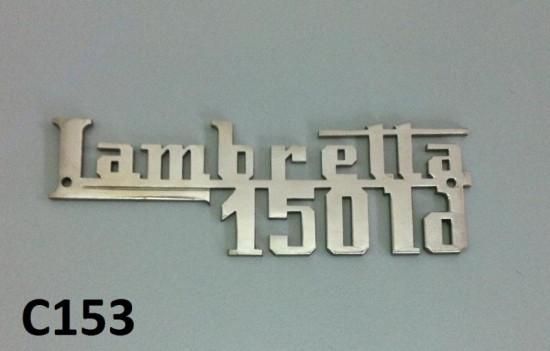 """Scritta cromata """"Lambretta 150 LD"""""""