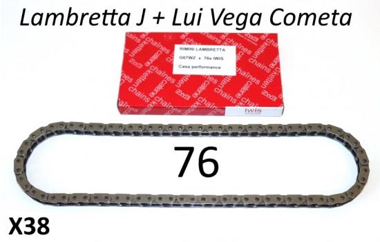 Catena IWIS 76 maglie di altissima qualità per Lambretta Lui + J