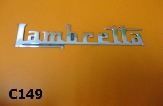 """Scritta """"Lambretta"""" alluminio per modelli Lambretta LC + LD"""