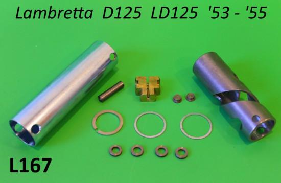 Kit completo comando gas Lambretta D125 + LD125 '53 - '55