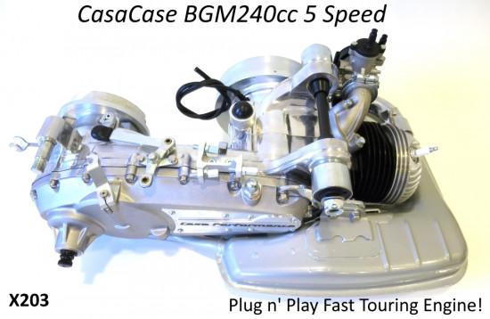 Motore completo BGM RT 240cc 5 marce per Lambretta S1 + S2 + TV2 + S3 + TV3 + Special + SX + DL + Serveta