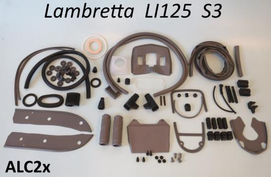 Kit profili in gomma completo Casa Lambretta, colore Grigio, per Lambretta S3 LI125