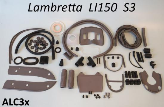 Kit profili in gomma completo Casa Lambretta, colore Grigio, per Lambretta S3 LI150