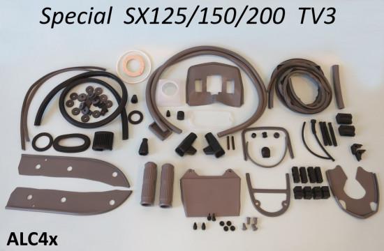 Kit profili in gomma completo Casa Lambretta, colore Grigio, per Lambretta SX + Special + TV3