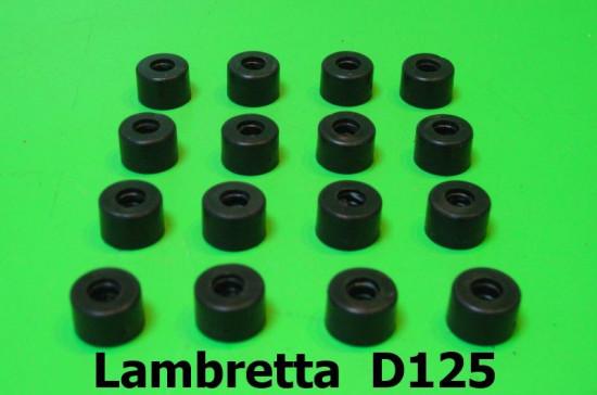 Set 16 distanziali / spessori in gomma (per profili pedana C260) Lambretta D125