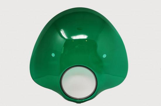 Cupolino modello 'Bubble' Verde (compreso set staffe) per Lambretta S3 LI (+ adatt. S2)