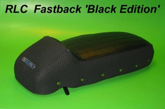 Sella sportiva 'RLC Fastback' Black Edition Lambretta S1 S2 S3 GP DL Serveta