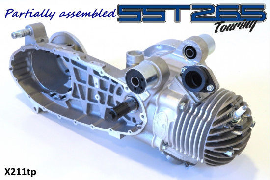 Motore Casa Performance SST265 Touring parzialmente assemblato per Lambretta S1 + S2 + S3 + DL + Serveta