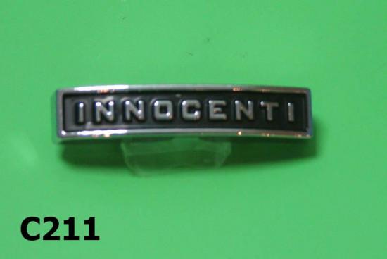 Targhetta posteriore Innocenti per Lambretta Lui Vega Cometa