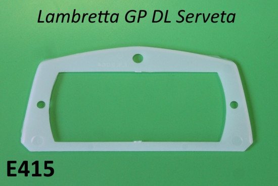 Guarnizione in plastica bianca per vetro fanale posteriore Lambretta DL + Serveta