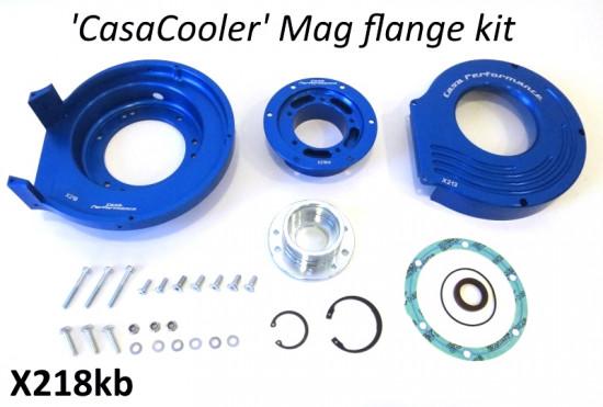 Kit CasaCooler flangia chiocciola CNC (colore blu) per motore originali Lambretta