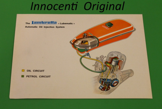 Depliant originale 'Lubematic' Lambretta Lui 75SL
