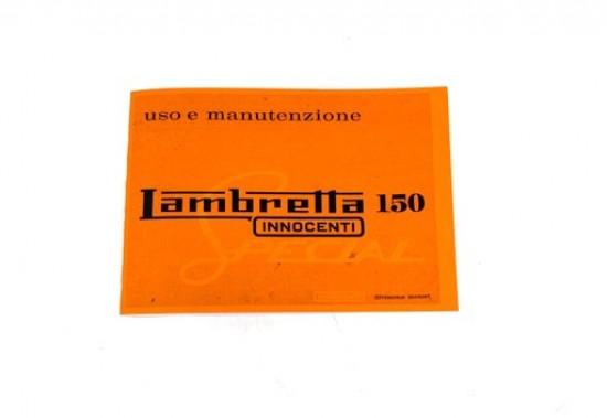Libretto 'Uso e Manutenzione' Lambretta 150 Special
