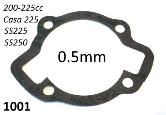Guarnizione per base cilindro spessore 0.5mm Lambretta 200 + 225 + 250cc (carter grande)