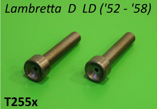 Coppia aste / pistoncini per molle forcella anteriore Lambretta D LD ('52 - '58)